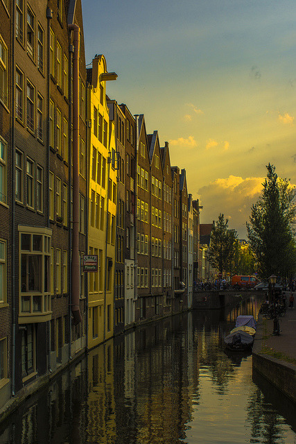 Houses by the canal, Amsterdam / Netherlands