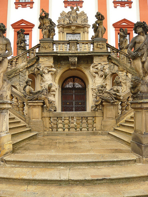 Baroque architecture at Troja Palace / Czech Republic
