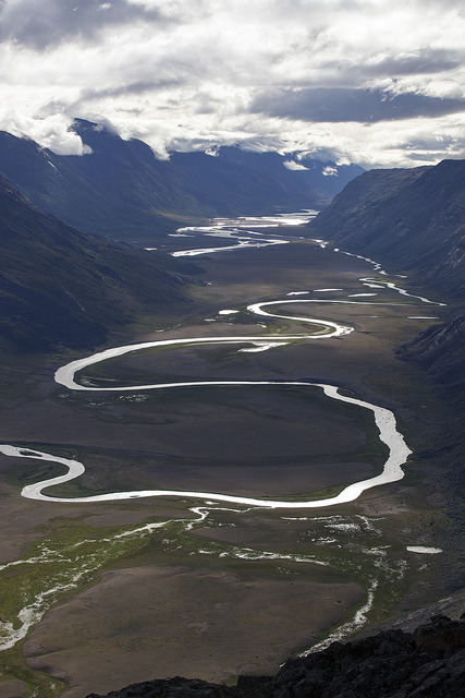Elevated view of Paradise Valley / Greenland
