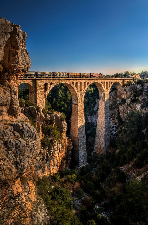 """Varda Viaduct in Adana Province / Turkey ."""