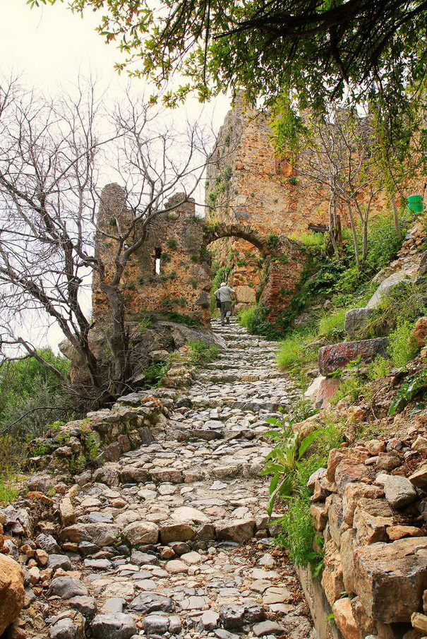 """Steps to the castle, Alanya / Turkey ."""